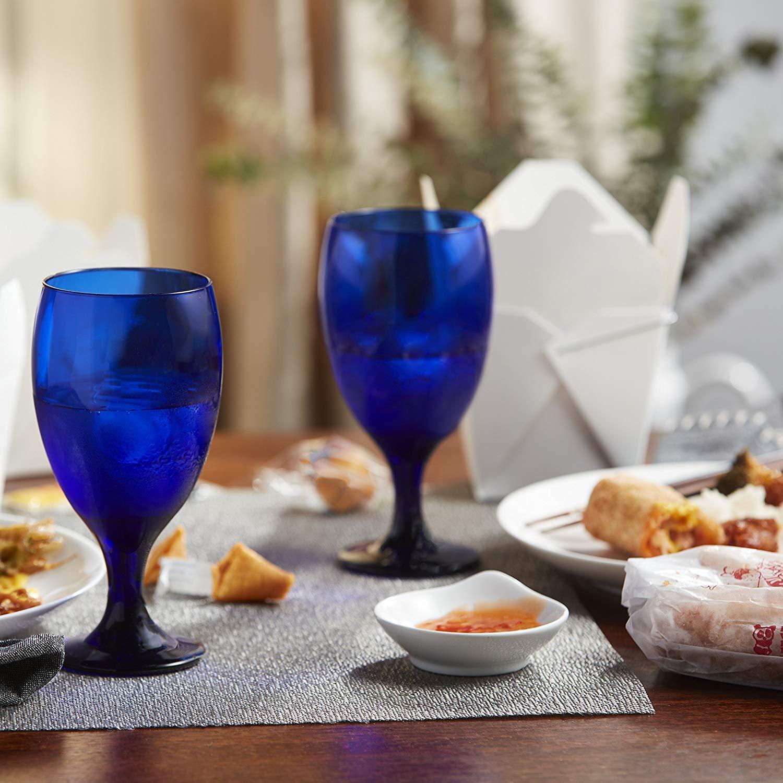 Goblet Glass Set of 12 Wine Water Cobalt Cobalt Cobalt Blau Lunch Dinner Glasses 16-ounce NEW ded64d