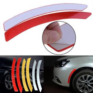 2x-Red-Car-Wheel-Eyebrow-Reflective-Warning-Decal-Reflector-Safety-Sticker-New