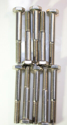 "1//4-20 X 2-1//2/"" Automotive stainless steel hex head grade 5 bolts 10pcs"