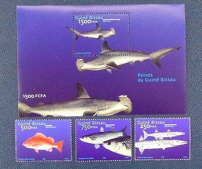 Guinea Bissau 2002 Fische Fishes Poissons Pesci Hammerhai 2025-27 Block 380 Mnh