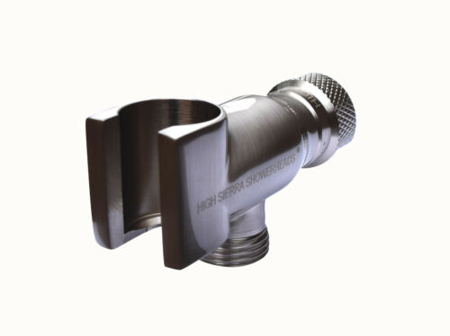 Brushed Nickel High Sierra/'s All Metal Universal Handheld Shower Holder