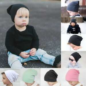 0d2d1daa413 Kids Baby Boys Slouchy Hat Solid Soft Winter Warm Beanies Hats ...