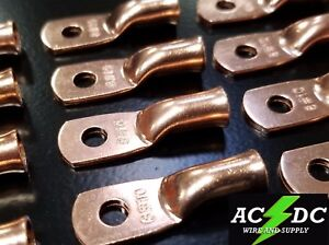 """5 2 gauge Ring 5//16/"""" Hole Terminal BATTERY Lug Bare Copper Un-insulated AWG"""