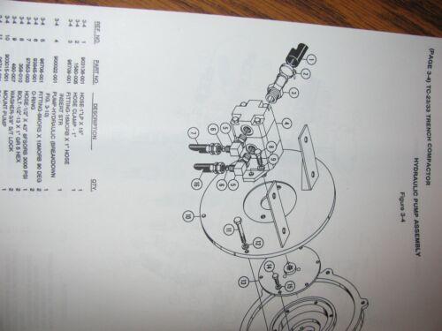 * Vermeer TC23 TC33 Trencher Compactor Operators Owners Manual /& Parts List 1990