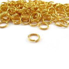 Wholesale 300Pcs Double Split Jump Rings Connectors Findings Golden 8mm