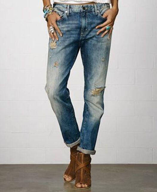4a93b4806 Denim   Supply Ralph Lauren Distressed Oceanside Wash Boyfriend Jeans 25 26  NWT