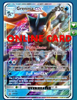 Greninja GX Promo SM197 DIGITAL ptcgo in Game Card for Pokemon TCG Online