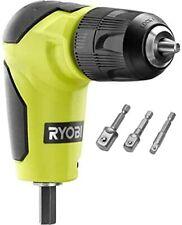 Ryobi Right Angle Drill Attachment 12 In To 38 In Amp Bonus Socket Adapters
