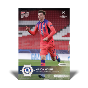 Mason Mount Chelsea FC - 2020/2021 UCL Topps Now Card #60 UEFA Champions League