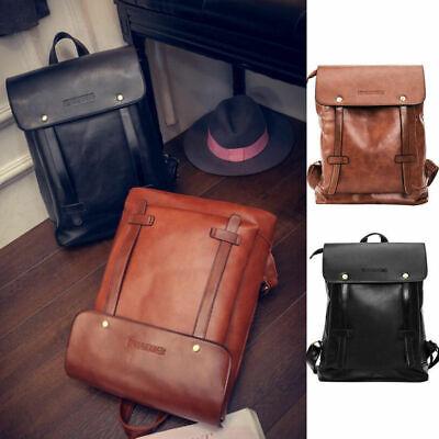Unisex Vintage Leder Rucksack Reisetasche Laptop Schultasche Herren Damen Bag De Exquisite Handwerkskunst;
