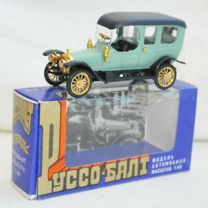 1912-RUSSIAN-CAR-MODEL-RUSSO-BALT-LIMOUSINE-METAL-SCALE-C24-40-VINTAGE-RETRO