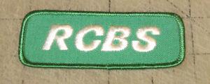 "Vintage RCBS 4"" Wide Green Arm - Hat - Shirt Patch - AMMO - GUNS - RELOADER"
