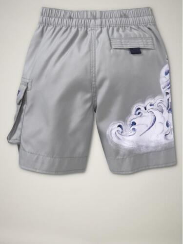 NWT GAP Shark and Waves Swim Shorts Trunks Board Short NEW Dusty Gray 3T 3 Years