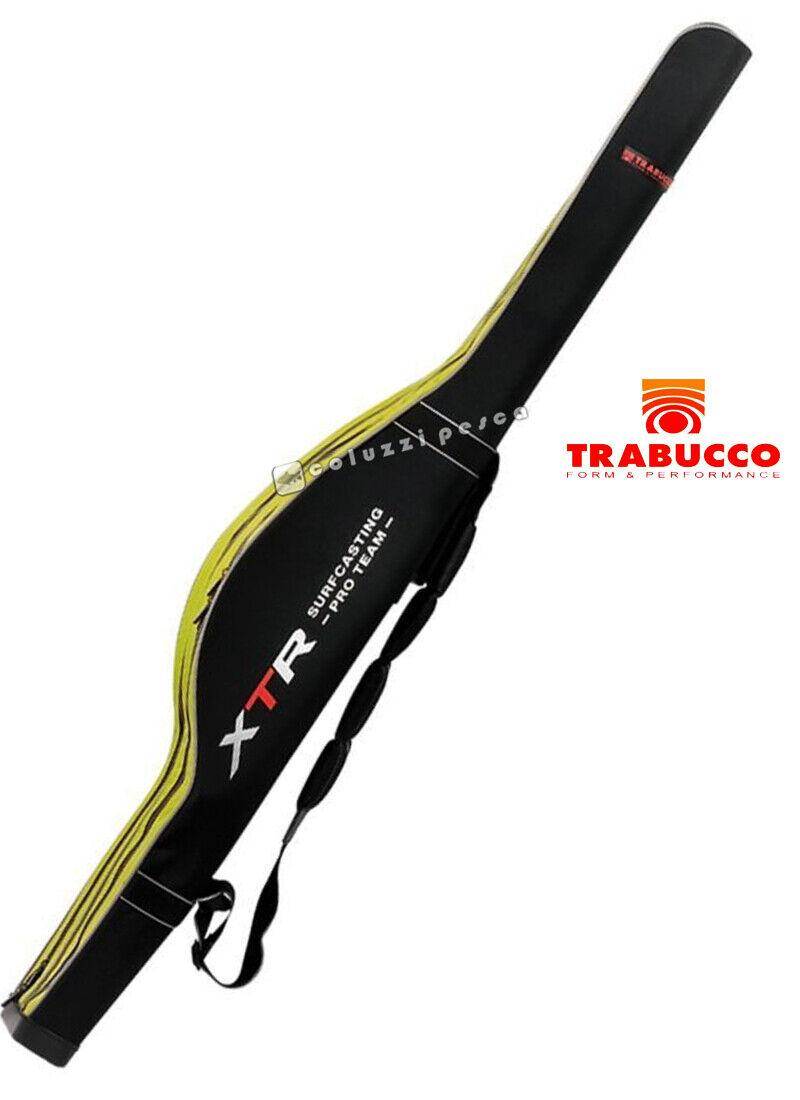 FODERO PORTACANNE RIGIDO SAGOMATO XTR TRABUCCO 2 SCOMPARTI 04842020 PESCA SURF