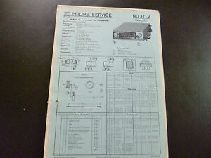 100% Wahr Original Service Manual Autoradio Philips Nd371v Autosuper