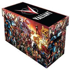 10 BCW Short Cardboard Comic Book Storage Boxes w Valiant Universe Art Design