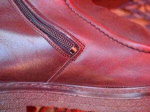 Details zu Herren Schuhe Stiefeletten Boots Gotthard Gr 44 Weite H braun Leder Lammfell
