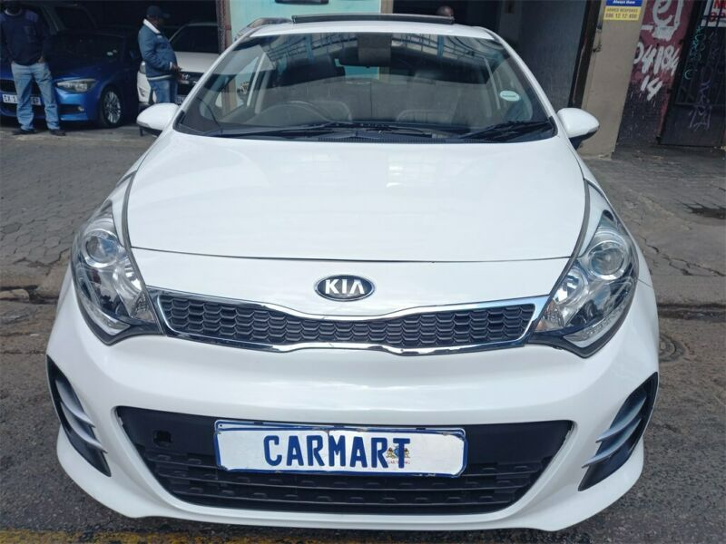 2016 Kia Rio 1.4 5-door AT, White with 86000km available now!