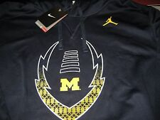 MENS NIKE AIR JORDAN NCAA MICHIGAN WOLVERINES HOODIE SIZE LARGE L NAVY  NWT