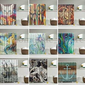 Various-Modern-Waterproof-Bathroom-Shower-Curtain-Panel-Sheer-Decor-With-12