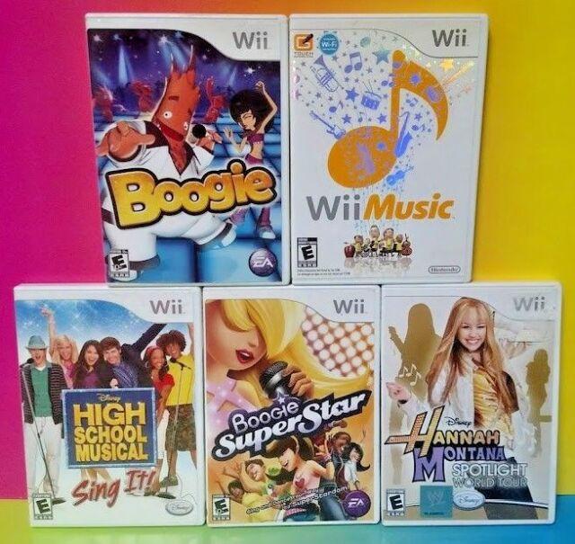 Disney Sing It Super Star Boogie Wii Music Rock Nintendo Wii Wii U 5 Game Lot Ebay