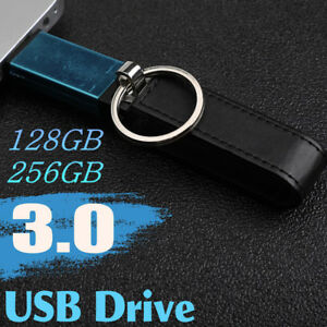 128 GB 256 GB USB 3.0 Key Chain Leather Flash Drive Memory Stick Pen Thumb Disk