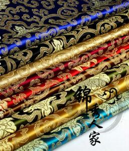 Chinese-Satin-Faux-Silk-Fabric-Floral-Brocade-Dress-Clothes-Cheongsam-DIY-Retro