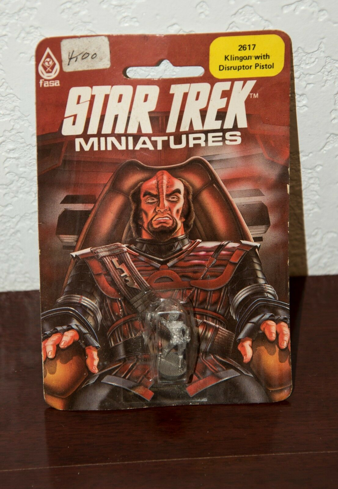 1983 STAR TREK MINATURES KLINGON WITH DISRUPTOR PISTOL COLLECTIBLE FIGURE MIP