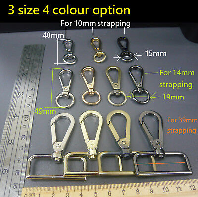 SNAP HOOK TRIGGER CLIP 15mm Strapping 10 x PLASTIC SWIVEL CLIP,BAG CLASP