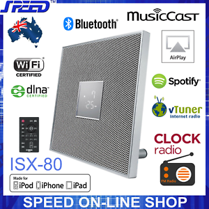 Details about Yamaha ISX-80 MusicCast Bluetooth AirPlay Clock Radio 30W  Speaker – White