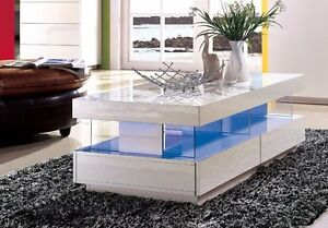 Modern High Gloss White Tiffany Wood Coffee Table for Living Room ...