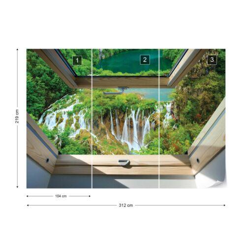 Cascade lucarne fenêtre view Photo papier peint polaire facile installer papier