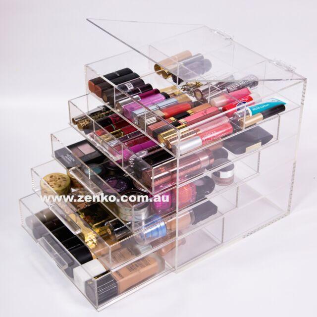 New Acrylic Makeup Organizer Cosmetic Beautiful Storage 4 Drawers 5 Levels