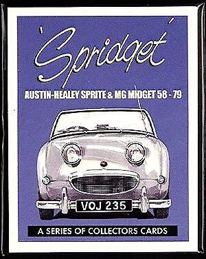 """/'79 Set di carte da Collezione Spridget MG Midget /& Austin Healey Sprite/"""" 58"""