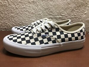 7d8225c254 Vans Authentic Pro Checkerboard Navy Mens US size 8.5 Ultracush NEW ...