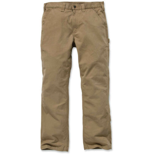 Carhartt Mens Washed Twill Relaxed Cotton Dungaree Pants Trousers