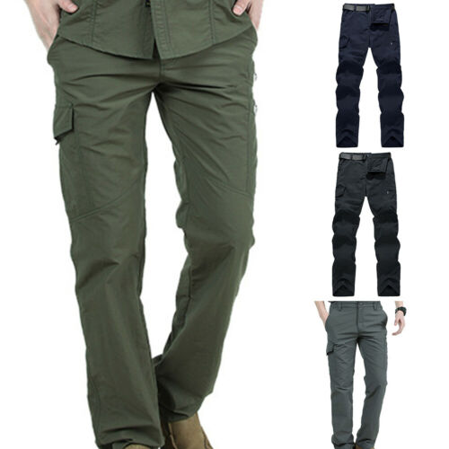 Men Outdoor Hiking Multi-pocketsSolid Quick Dry Tactical Pants Clothes HOT Call