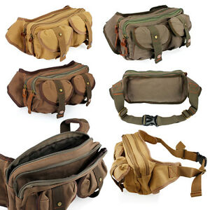Men-039-s-Canvas-Military-Messenger-Shoulder-Travel-Bags-Hiking-Fanny-Small-Bags