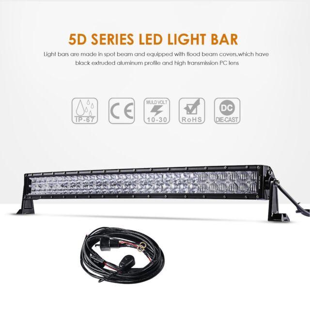 Xprite 10 Inch 30W CREE C7 Alpha LED Off Road HD Light Bar Spot /& Flood Combo