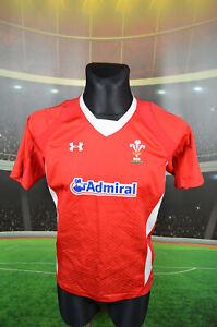 Wales WRU Under Armour Home Rugby Union Shirt (L) Cymru haut en jersey pour homme trikot