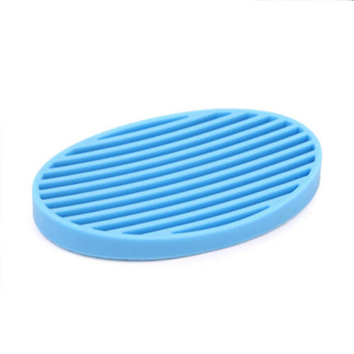 Plate Tray Drain Bathroom Silicone Cute Soap Dish Storage Holder Soapbox