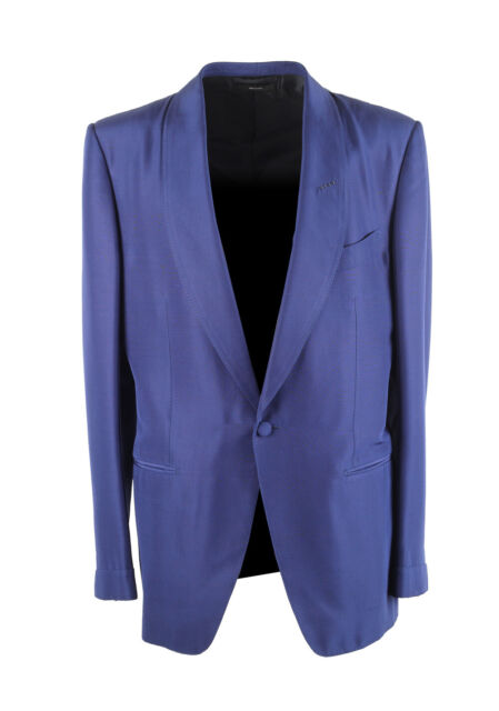 New Tom Ford O Connor Blue Tuxedo Dinner Jacket Size 52 42r U S Fit S Jack