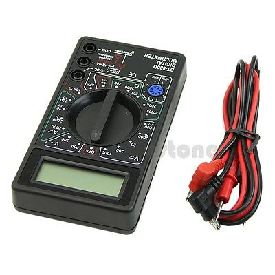 Digital LCD Multimeter with Buzzer Voltage Ampere Meter Test Probe DC AC New