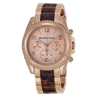 Michael Kors Blair Rose Dial Rose Gold-tone Ladies Watch MK5859