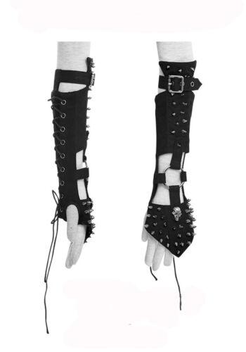 Manche gant mitaine gothique punk lolita steampunk armure clous spike Punkrave N