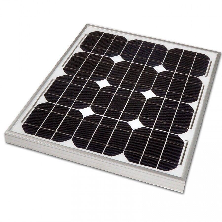30W Monocrystalline Solar Panel 12V Battery Charger Motorhome Shed Caravan