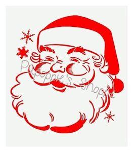 Details About Stencil Santa Claus Christmas Crafts Jolly Santa Snowflakes Large