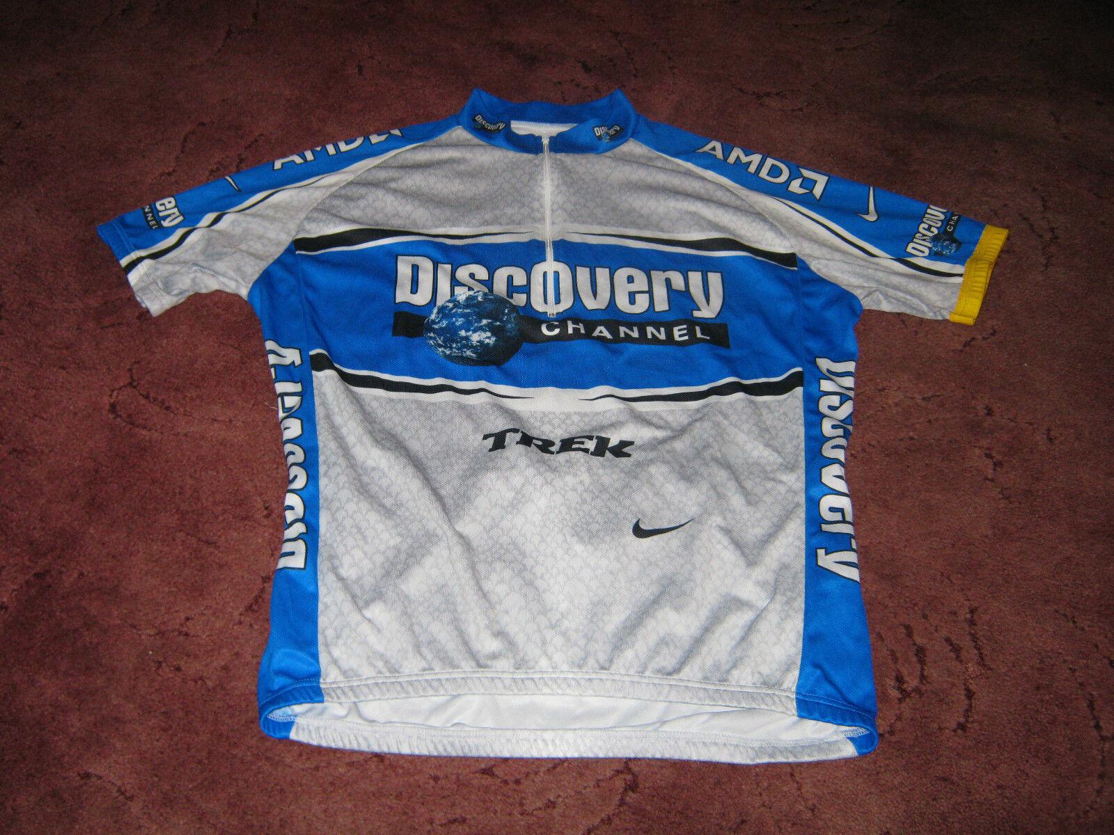 DISCOVERY CHANNEL TREK SUBARU NIKE ITALIAN CYCLING JERSEY [L] .