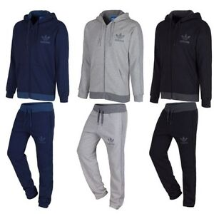 027290b38 ADIDAS ORIGINALS SPO FULL TRACKSUIT NAVY GREY BLACK S M L XL JOGGER ...