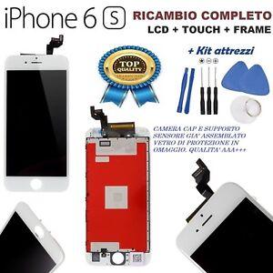 TOUCH-SCREEN-LCD-RIGENERATO-ORI-FRAME-PER-APPLE-IPHONE-6S-VETRO-BIANCO-KIT